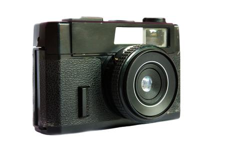 finder: An elegant retro range finder camera isolated in white background