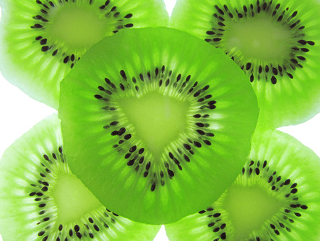 abstract food: Abstract photo of a green kiwi fruit
