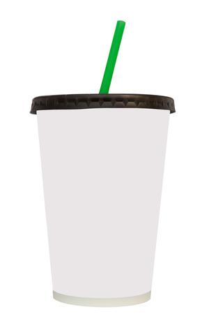 comida rápida: Fast food drinking cupisoletedwhite background Foto de archivo