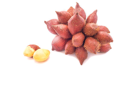 litchi: Ripe fruit of the Litchi against on white background