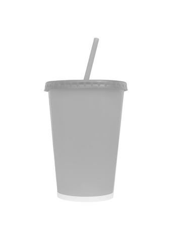 isoleted: Blank fast food drinking cup, isoleted on white background, Clipping paths
