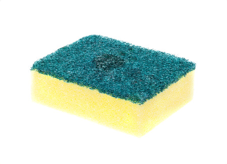 Scouring pads on a white background