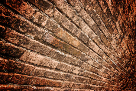 grunge border: Old grunge brick wall over dark border selective focus Stock Photo