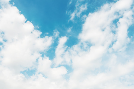 nimbi: Blue sky with white cloud for design