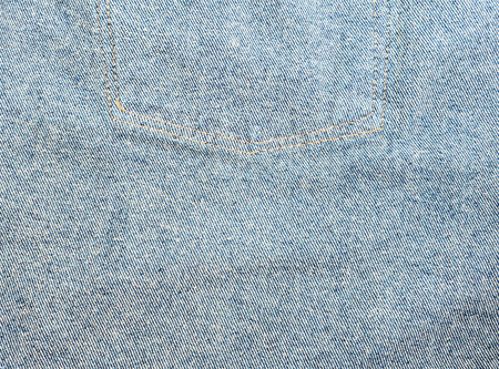 Denim texture, Close up texture of blue jean or denim fabric inside out