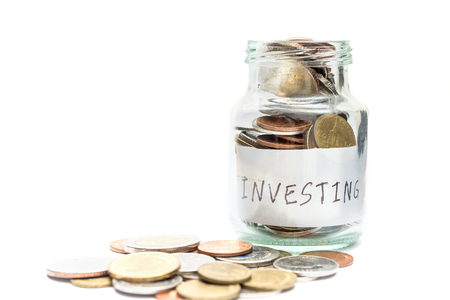 Saving money and account finance bank business concept, Investing concept