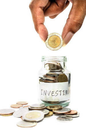 Saving money and account finance bank business concept, Investor concept Stock Photo