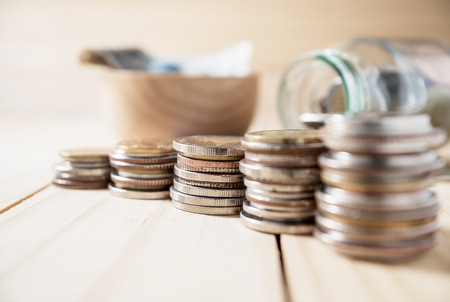 Saving money and account banking for finance business concept Stock Photo