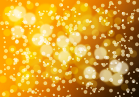 Glitter light abstract gold bokeh christmas night blurred black background