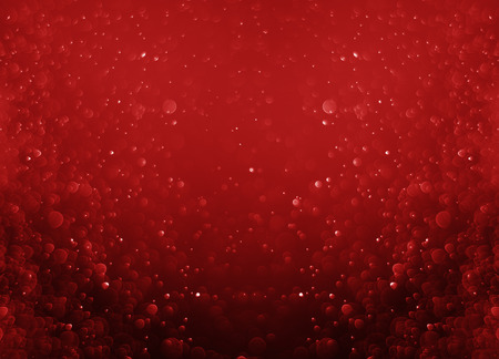 Glitter light red bokeh christmas night blurred black background  Stock Photo