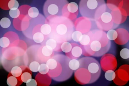 Abstract bokeh background, Christmas light bokeh and light bulbs blurred background