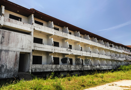 Abandoned and dilapidated buildings Because it was affected by the economic downturn and the effects of the civil war Editorial