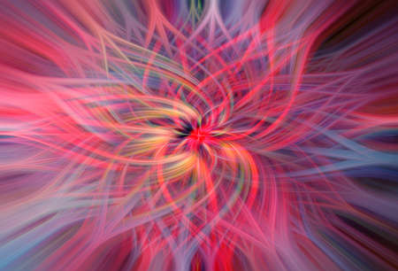 Abstract twisted light fibers effect blurred background, Motion blur for background design