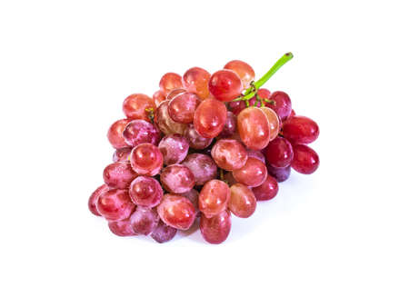 Red grape fruit isolated on white background 免版税图像