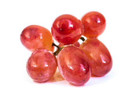 Red grape fruit isolated on white background Banque d'images