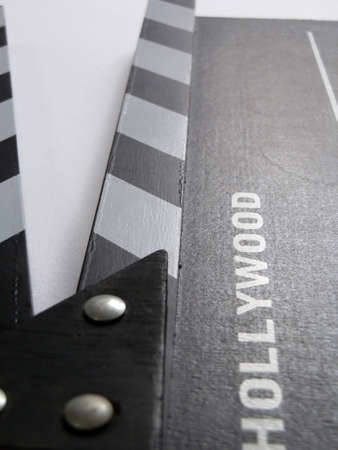 cinematic: Cinematic clapperboard on white background