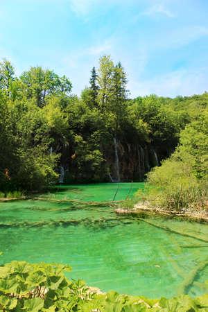 marginal: Blue Water Lake Plitvice, Croatia