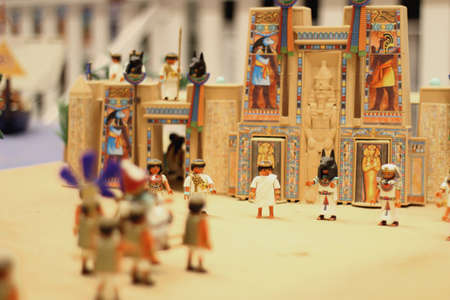 ra: Pharaoh Ra in his temple with his subjects
