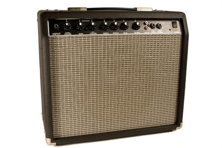 guitar amplifier isolated on white photo