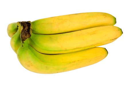 a bunch of bananas isolated on white Stock Photo