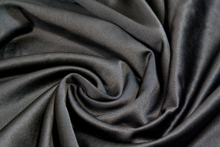 black satin: suave tejido satinado Negro arremolinaban