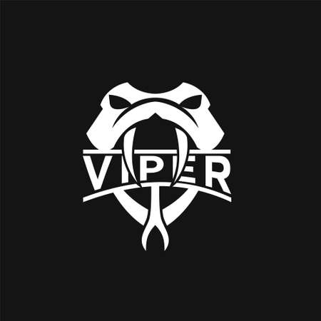 viper head snake logo icon design