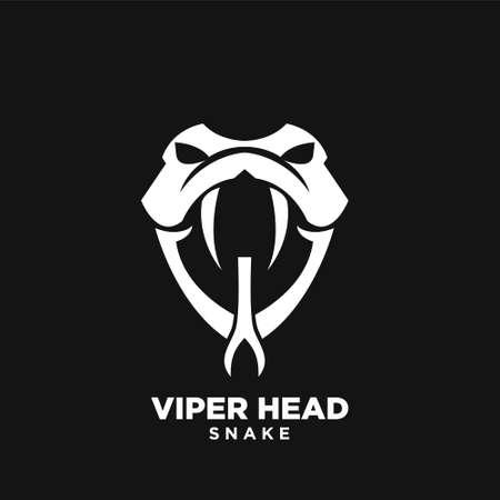 viper head snake logo icon design