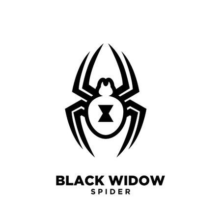 black widow spider logo icon design Logó