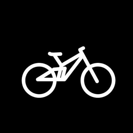 Mtb downhill bike logo icon design