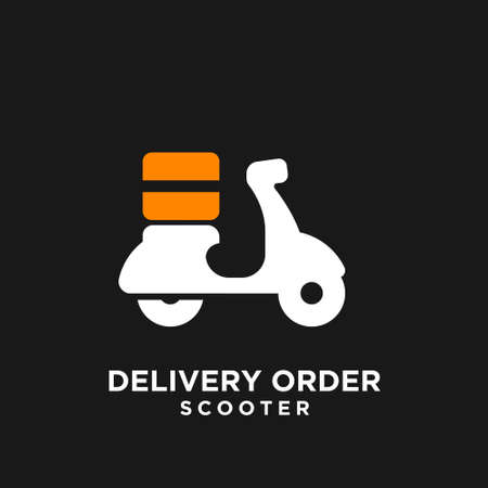 scooter delivery logo icon design