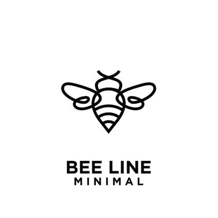 premium big hornet bee line vintage vector icon logo template design isolated background