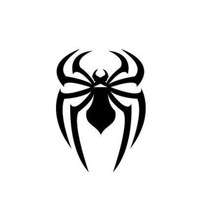 abstract spider logo icon black design flat illustration ЛОГОТИПЫ