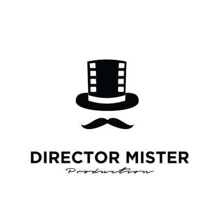 Mister movie Studio Video Cinema Film Production logo design vector icon illustration Isolated White Background