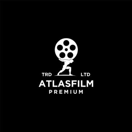 atlas film vintage logo icon illustration Premium Vector Logó