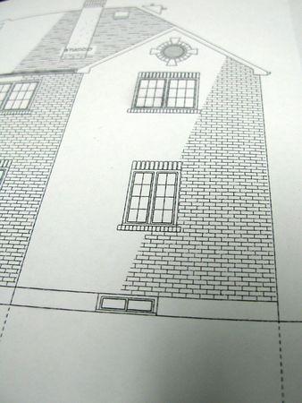 architectural plan showing elevation Фото со стока