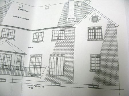 front elevation: architectural plan of front elevation