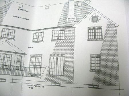 plano arquitect�nico de elevaci�n delantera  Foto de archivo - 3220695