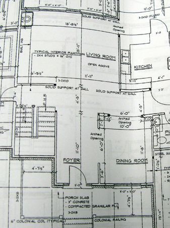 architectural floor plan of home Фото со стока