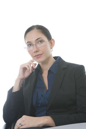 mujer ejecutiva en traje de negocios en su oficina  Foto de archivo - 3249499
