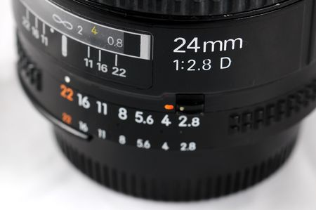 close up of 23mm lens