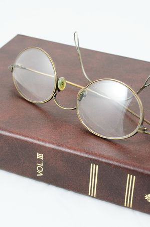 eyeglasses and journal