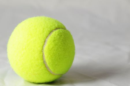 tennis ball close up