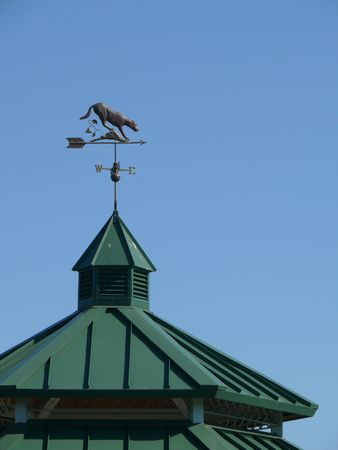weather vane on gazebo roof