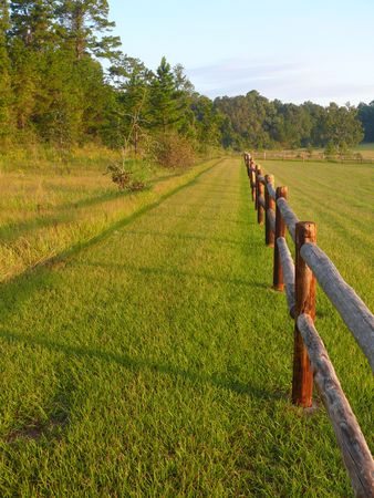 split rail: split rail fence Stock Photo