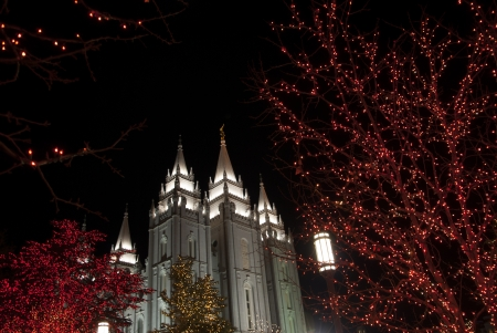 tabernacle: Mormon Tabernacle at Christmas