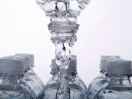 Acqua in bottiglia Archivio Fotografico