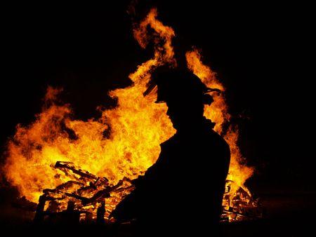Incendio Archivio Fotografico