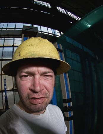 Male Construction Worker Stock Photo