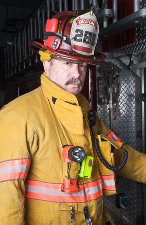 Ritratto di pompiere  Archivio Fotografico