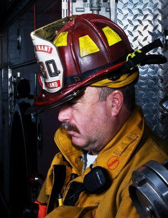 Firefighter Portrait Stock Photo